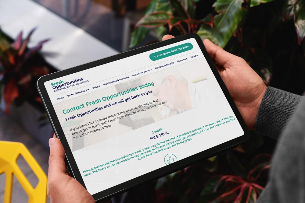 Fresh Opportunities on tablet
