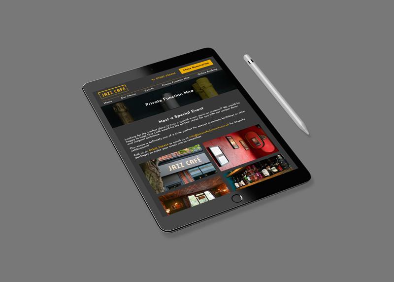 Jazz Cafe on tablet