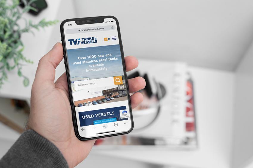 Tanks and Vessels website design on mobile